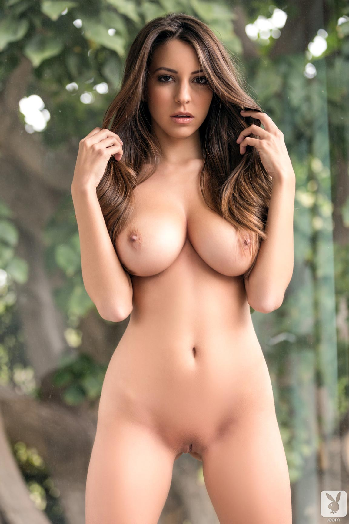 Playboy Playmate Shelby Chesnes starts the day with a ...